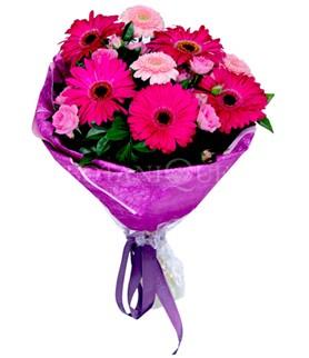 Ankara anneler günü çiçek yolla  karışık gerbera çiçeği buketi