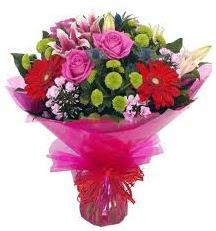 Karışık mevsim çiçekleri demeti  Ankara kaliteli taze ve ucuz çiçekler