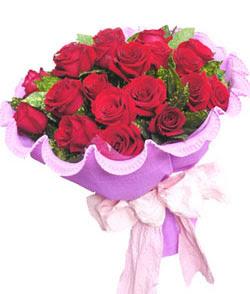 12 adet kırmızı gülden görsel buket  Ankara 14 şubat sevgililer günü çiçek