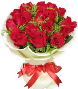 19 adet kırmızı gülden buket tanzimi  Ankara internetten çiçek siparişi