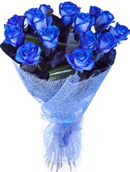 9 adet mavi gülden buket çiçeği  Ankara hediye çiçek yolla