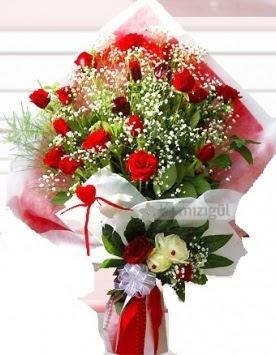 Kız isteme buketi çiçeği 41 güllü  Ankarada çiçek gönderme sitemiz güvenlidir