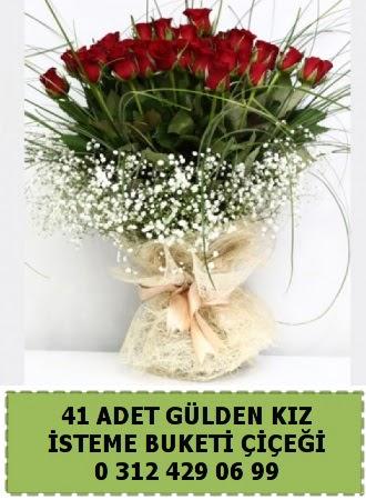 41 kırmızı gülden kız isteme çiçeği buketi  Ankara İnternetten çiçek siparişi w