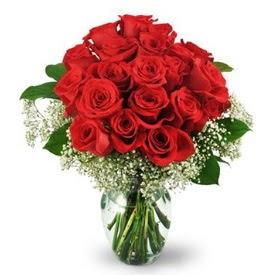 25 adet kırmızı gül cam vazoda  Ankara ucuz çiçek gönder