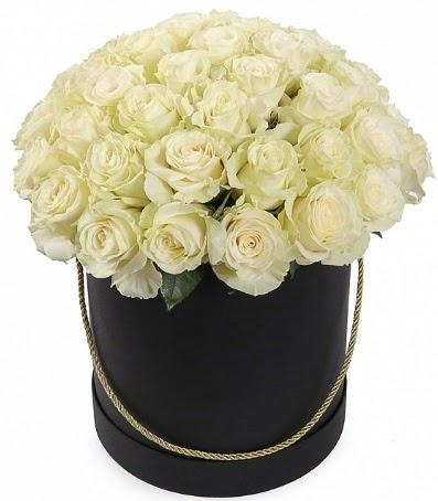 33 adet beyaz gül özel kutuda isteme çiçeği  Ankara hediye sevgilime hediye çiçek