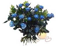 Ankara ucuz çiçek gönder  11 adet mavi gül özel tanzim