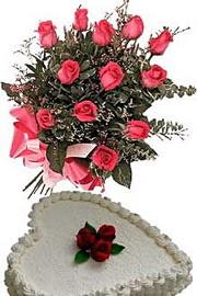 Ankara çiçek satışı  Yas pasta ve özel gül buketi