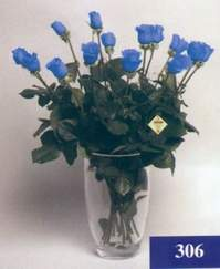 Ankara çiçekçi mağazası  mika vazo yada cam Vazoda 11 adet mavi güller