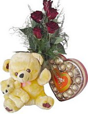 Ankara çiçek siparişi sitesi  7 gül oyuncak çikolata