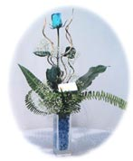 Ankara çiçekçiler  Kalite mika yada cam vazo mavi gül tanzim