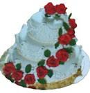 Ankara çiçek siparişi sitesi  3 katli güllerle süslü pasta