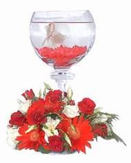 Ankara çiçekçi mağazası  Kadehte estetik aranjman