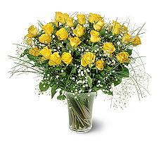 Ankara anneler günü çiçek yolla  15 adet sarigül mika yada cam vazoda