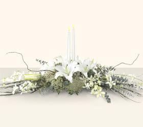 Ankara yurtiçi ve yurtdışı çiçek siparişi  kazablanka mum tanzim