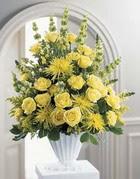 Ankara anneler günü çiçek yolla  sari güllerden sebboy tanzim çiçek siparisi