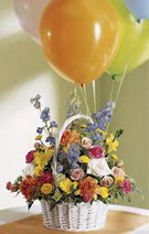 Ankara çiçek mağazası , çiçekçi adresleri  Mevsim çiçekleri sepeti balon hediye