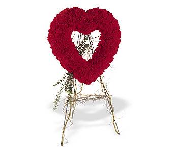 Ankara hediye sevgilime hediye çiçek  karanfillerden kalp pano