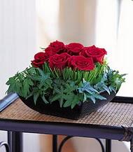 Ankara anneler günü çiçek yolla  10 adet kare mika yada cam vazoda gül tanzim