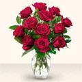 Ankara çiçek gönderme  10 adet gül cam yada mika vazo da