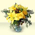Ankara çiçek servisi , çiçekçi adresleri  sari güller ve sari lilyum