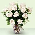 Ankara çiçek siparişi sitesi  beyaz güller cam yada mika vazo
