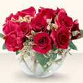 Ankara çiçekçiler  mika yada cam içerisinde 10 gül - sevenler için ideal seçim -