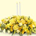 Ankara 14 şubat sevgililer günü çiçek  sadece sarilar ve mum