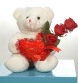 3 adetgül ve oyuncak   Ankara uluslararası çiçek gönderme
