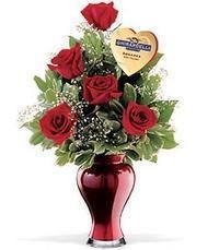 5 adet gül ve cam yada mika vazo özel  Ankaraya çiçek yolla