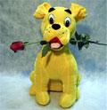 köpek ve agzinda  gül   Ankara çiçek yolla , çiçek gönder , çiçekçi