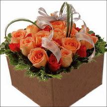 kare sandikta 11 gülllerden   Ankara 14 şubat sevgililer günü çiçek