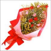 12 adet renkli  gül buketi   Ankara 14 şubat sevgililer günü çiçek