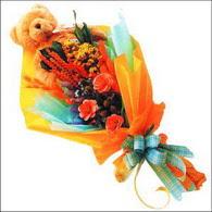 ayicik gül ve kir çiçekleri   Ankara 14 şubat sevgililer günü çiçek