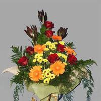 karisik güllerden buketlik   Ankara çiçekçi telefonları