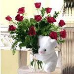 9 adet kirmizi gül    Ankara ucuz çiçek gönder