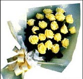sari güllerden sade buket  Ankara ucuz çiçek gönder