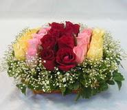 15 adet reprenkli gül sepeti   Ankara çiçek gönderme