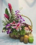 orkide kazablanka ve sepet  Ankara çiçek gönderme