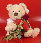 kalp oyuncak ve gül üçgeni   Ankara çiçek gönderme