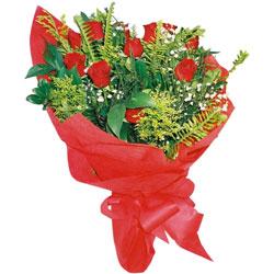 11 adet gül buketi sade ve görsel  Ankara yurtiçi ve yurtdışı çiçek siparişi