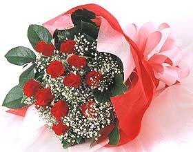 12 adet kirmizi gül buketi  Ankara güvenli kaliteli hızlı çiçek