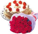 yaspasta ve 10 adet gül  Ankara hediye sevgilime hediye çiçek