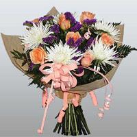 güller ve kir çiçekleri demeti   Ankara çiçek online çiçek siparişi