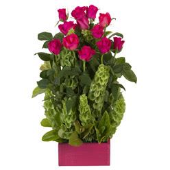 12 adet kirmizi gül aranjmani  Ankara çiçek siparişi vermek