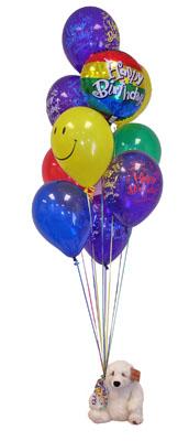 Ankaraya çiçek yolla  Sevdiklerinize 17 adet uçan balon demeti yollayin.
