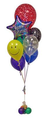 Ankara ucuz çiçek gönder  Sevdiklerinize 17 adet uçan balon demeti yollayin.