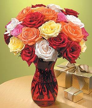 Ankara çiçek siparişi sitesi  13 adet renkli gül