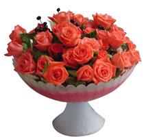 Ankara online çiçekçi , çiçek siparişi  cam vazo içinde güller