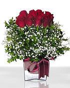 Ankara ucuz çiçek gönder  11 adet gül mika yada cam - anneler günü seçimi -