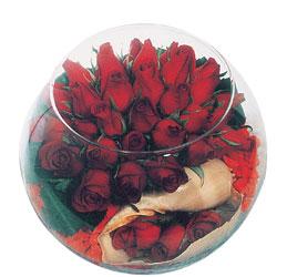 Ankara çiçek siparişi sitesi  Cam fanus içerisinde sevdiklerinize özel 12 gül